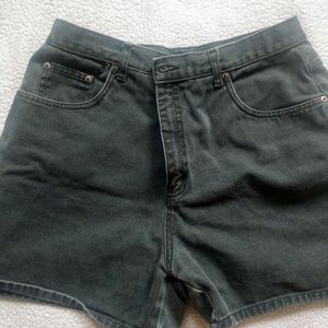 Vintage army green Halston high waist shorts
